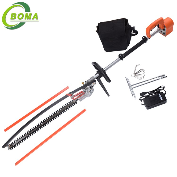 Lithium Battery Powered Pole Hedge Trimmer with 600mm Blades for Garden Bushes