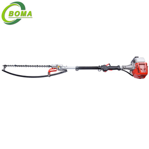 Household Hand-held Hedge Trimmer with Petrol Engine for Cutting Round Shrubs